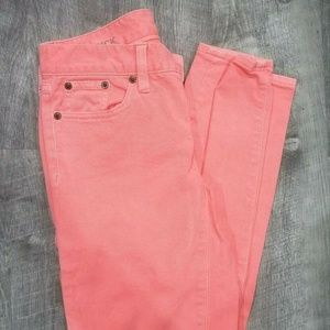 J CREW Toothpick Ankle Skinny Jeans Size 25 Neon O